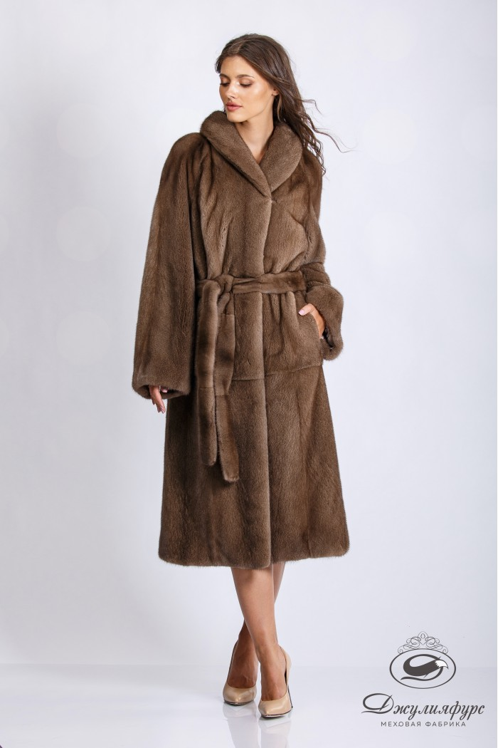 Пальто из норки М-2101