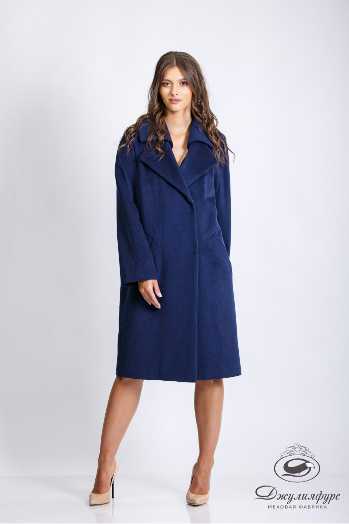 Пальто с двойным воротником П-11