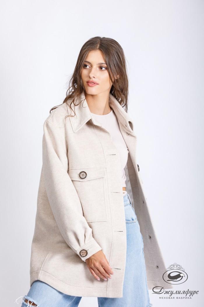 Укороченное пальто-рубашка П-15