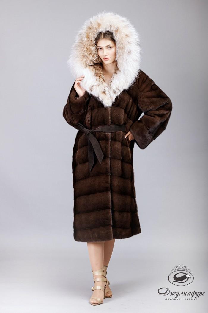 Пальто из норки М-2014