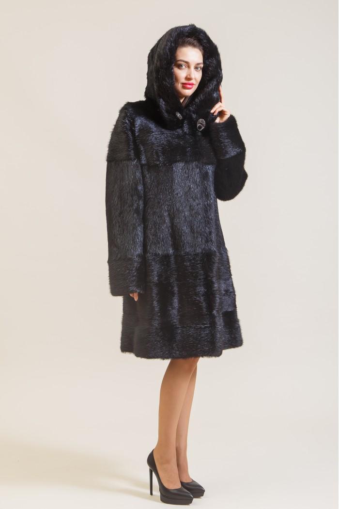 Пальто из нутрии Н-18